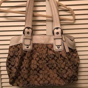 Large Tan Coach Bag